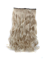 24 Inch 120g Long Curly Blonde 5 Clip In Hair Extensions Heat Resistant Synthetic Fiber