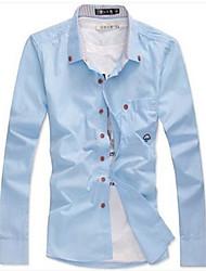 Chemises informelles ( Coton ) Informel Col roulé à Manches longues