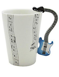 Music Guitar Cup Violin Ceramic Cup Porcelain Enamel Coffee Tea Mug Cup