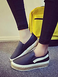Women's Shoes Korean Running-On Platform Platform / Comfort / Round Toe Loafers Outdoor / Casual Black / Red / White