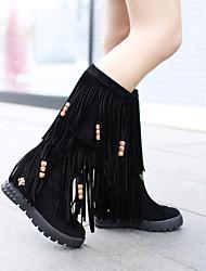 Women's Shoes Leatherette Wedge Heel Platform / Roller Skate Shoes /Party & Evening / CasualBlack /
