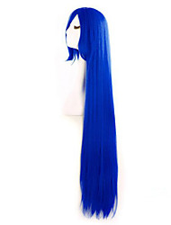 Holiday Fashion Must-Have Girl Blue Quality Long Straight Hair Wig