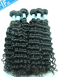 Deep Wave Hair Extension Malaysian Virgin Hair 5Pcs/Lot Unprocessed Malaysian Hair Color 1B