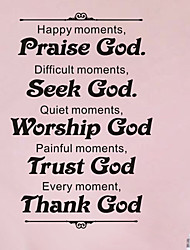 Wall Stickers Wall Decals, Home Decoration Trust God Quotes PVC Mural Wall Stickers