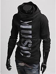 MEN - T-shirt - Vintage / Informale / Feste / Lavoro Felpa con cappuccio - Maniche lunghe Cotone / Raion