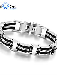 New 2015 Fashion Titanium steel Bracelet For Men Thick Rock Man Bracelet