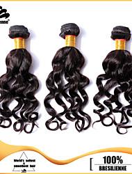3pcs Brazilian Hair Bundles Weaves Dark Brown Nadi Curl Hair Weft 100% Unprocessed Brazilian Human Hair Weft