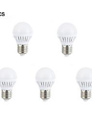 Décorative Ampoules Globe , E26/E27 3 W 10 SMD 2835 240-260 LM Blanc Chaud / Blanc Naturel AC 100-240 V