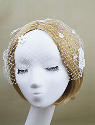 Women's Net Headpiece - Wedding/Party Flowers Birdcage Veils 1 Piece