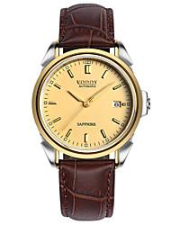 Vodoy®Men's Wrist Watch  Belt Water Resistant Mechanical Watch Noctilucent