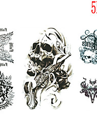 (5PCS) 2016  High Quality Creative Personality Fashion Waterproof  Thriller Skull