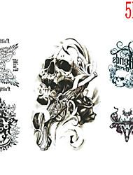 Tatuajes Adhesivos - Non Toxic/Modelo/Talla Grande/Tribal/Waterproof - Series de Tótem - Mujer/Hombre/Juventud - Multicolor - Papel - 5 -