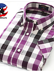 U&Shark Casual&Dress Men's 100% Fine Cotton Short Sleeve Shirt  by American Wahsing/DMSX-004