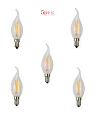 5st E14 4w 400lm varm / kall vitt ljus glödlampor 360 graders ledde glödlampa (220V)