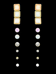 Fashion Trends  Colorful Gemstone Earrings Set