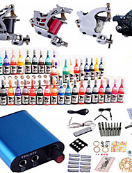 Tattoo Maschine komplette Kit Set 4 Geschütze Maschinen 40pcs Tattoofarbe Tattoo-Kits