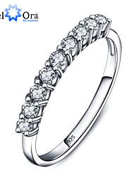nieuwe 2015 luxe party accessoires 925 sterling zilver wit zirconia ringen voor vrouwen