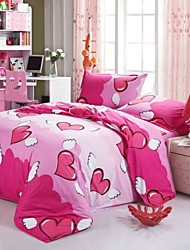 Mingjie® Angel's Heart Queen and Twin Size Sanding Bedding Sets 4pcs for Boys and Girls Bed Linen China Wholesale