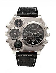 Large Dial 3 Colors Quartz & Leather Band Man Fashion Men's Sport Watch