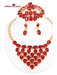 WesternRain Full Imitation Gem Stone Necklace Costume Jewelry Sets/Gold Plated Indian Ethnic Jewelry Jewelry Sets