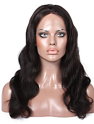 Premierwigs de qualité 8a 8 '' - 24 '' brazilian perruques vierges vague de corps de la soie en dentelle de base de l'avant avec des