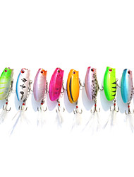 10 Pcs 5.7cm/10.6g Popper Minnow Top Water Floating Lure Wholesale Random Color