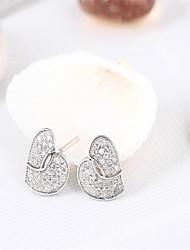 Peach heart 3a cz stud earrings Cute/Party/Work/Casual Sterling Silver Stud Earrings my orders c c  / branded earrings