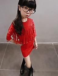 Vestido Chica de - Invierno / Otoño - Mezcla de Algodón - Manga Larga