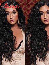 "10""-26"" 100% Human Hair Lace Wigs  Indian Virgin Hair Wavy Lace Wig for Women"