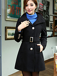 The new big yards in the single-breasted long cloth coat coa