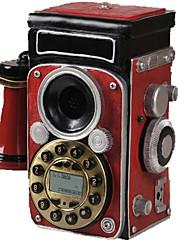 nouveauté décoration de la maison créative caméra rouge style antique téléphone fixe