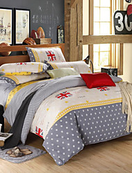 Mingjie® Stars Queen and Twin Size Sanding Bedding Sets 4pcs for Boys and Girls Bed Linen China Wholesale