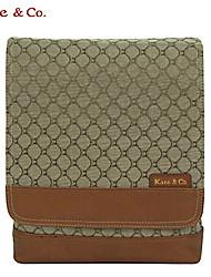 Kate&Co.® Women's Khaki Figured Cloth Real Cloth Multi-Function Handbag
