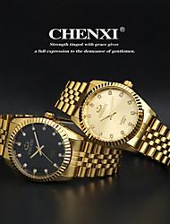 CHENXI® Men's Fashion Watch Golden Stainless Steel Imitation Diamond Quartz Wrist Watch Brand Cool Watch Dress Watch Unique Watch