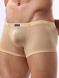 för män vit / svart / khaki sexig bekväma hälsosam is siden boxershorts underkläder