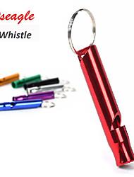Alumnium Alloy Outdoor Survival Whistle Hiking Sports Basketball Football Referee Whistle Cheerlea(Random Color)