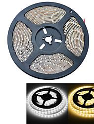 JIAWEN® 5 M 300 3528 SMD Warmweiß / Weiß Wasserdicht 25 W Flexible LED-Leuchtstreifen DC12 V