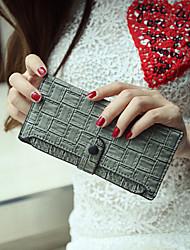 Women PU Wallet - Green/Red/Black