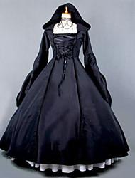 Uma-Peça/Vestidos Gótica Steampunk® Vitoriano Cosplay Vestidos Lolita Vintage Manga Longa Comprimento Longo Vestido Para Terileno Algodão