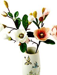 Silk / Plastic Magnolia Artificial Flowers