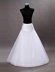 Bridal White Wedding Petticoat Slips A-Line Slip Floor-length 2 Tulle Netting Crinoline