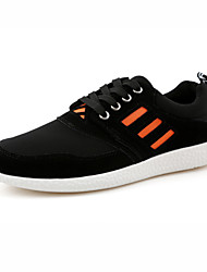 scarpe da uomo casuali scarpe da tennis di modo finto camoscio nero / blu