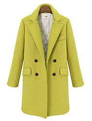 Yana Women'S Loose Thick Quilted Double-*Easted Wool Coat Suit