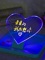 Creative Led Electronic Luminous Message Tablet ABS LED Light Night lampDC 5V 0.2W