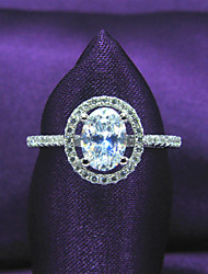 женщина классический платиновым напылением серебра 925, кубический цирконий участие серебро стерлингов, круглая форма обручальное кольцо