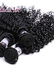 Malaysian Virgin Remy Kinky Curly Human Hair Weave 100% Real Unprocessed 3Pcs Hair Extension