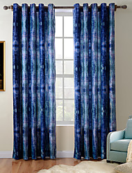 TWOPAGES Diana Collection Art Abstract Thick Knit 850GSM Velvet Hand Feel Curtain Drape One Panel