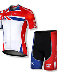 Spakct Men's 100% Polyester Short Sleeve Breathability MTB Cycling Suits
