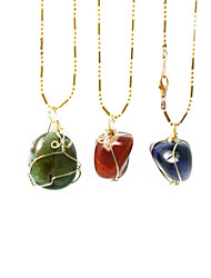 Beadia 1Pc Natural Agate Stone Pendants Irregularity Shape DIY Jewelry Pendants For Women Necklace(Dyed Colors)