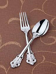 dongjin®rose baroque ensemble de 2pc cuillère à soupe * 1 + 1 * fourchette de table en acier inoxydable 18/10